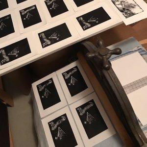 Ishavskatedralen (linotrykk / lino cut print)-Linotrykk (Lino Print)-Rutheart