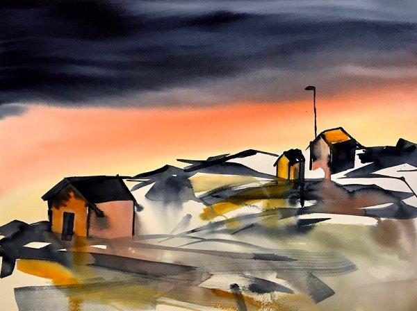 Painting - Orange is the new Dark-Rutheart