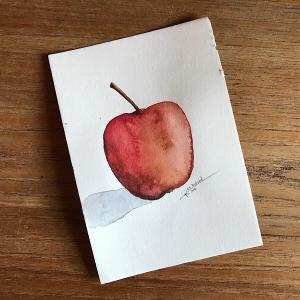 Høsteple / Autumn Apple - Watercolour - RT Brokstad