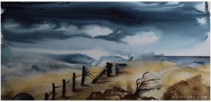 Original: Autumn Winds-Styles > Landscapes, Size > Medium (21-50 cm, eg. A4 and A3), Techniques > Original Watercolours-Rutheart