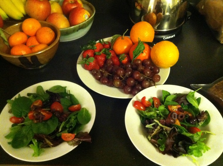 Fruit and Salad