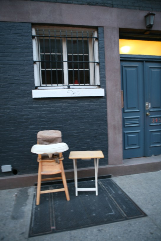 High Chair on Bleecker Street