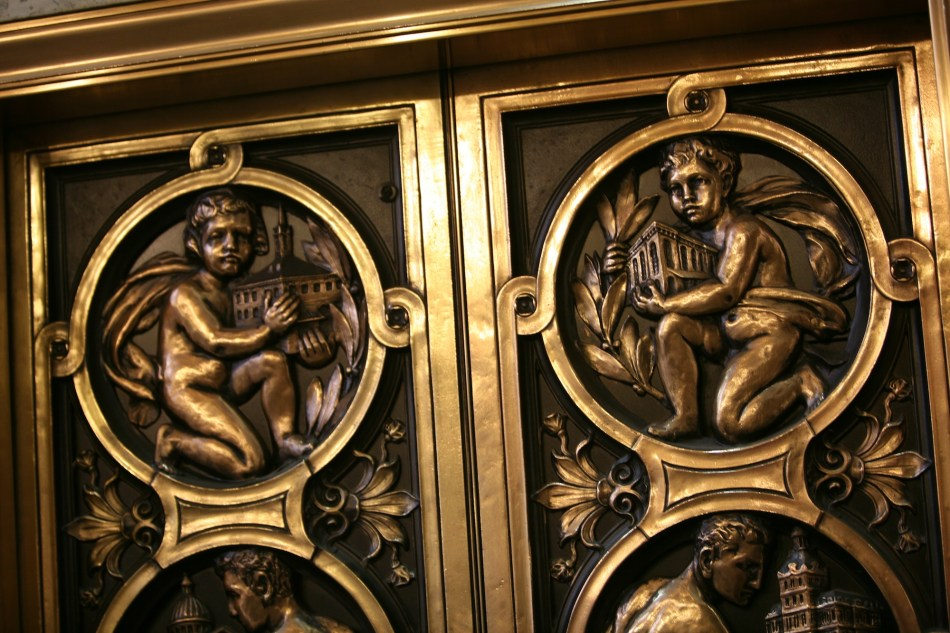 detail of elevator door