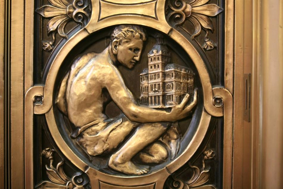 detail elevator door