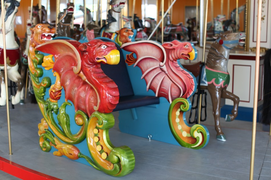 Griffin on Carousel Bench