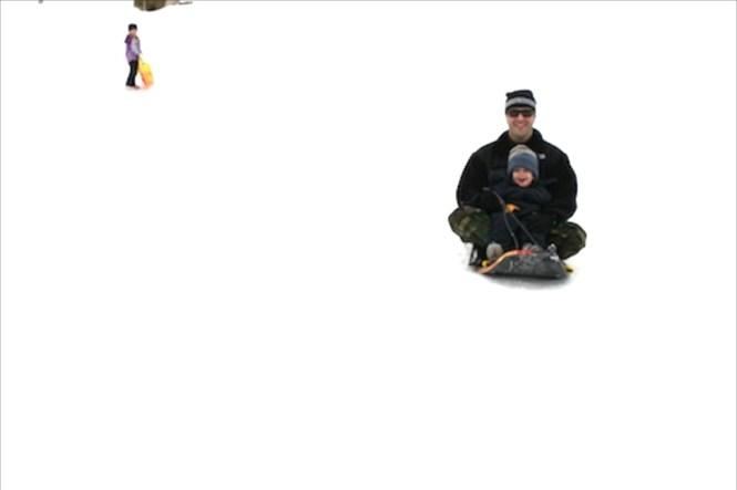 Jack sledding