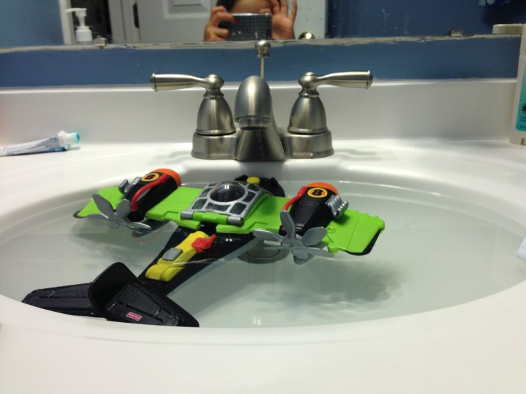 Sink full of airplane
