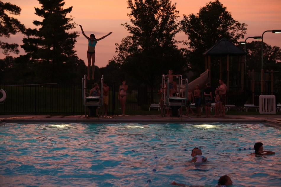 Diving Board at Dusk