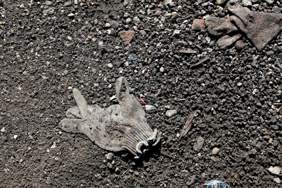 gloves and gravel