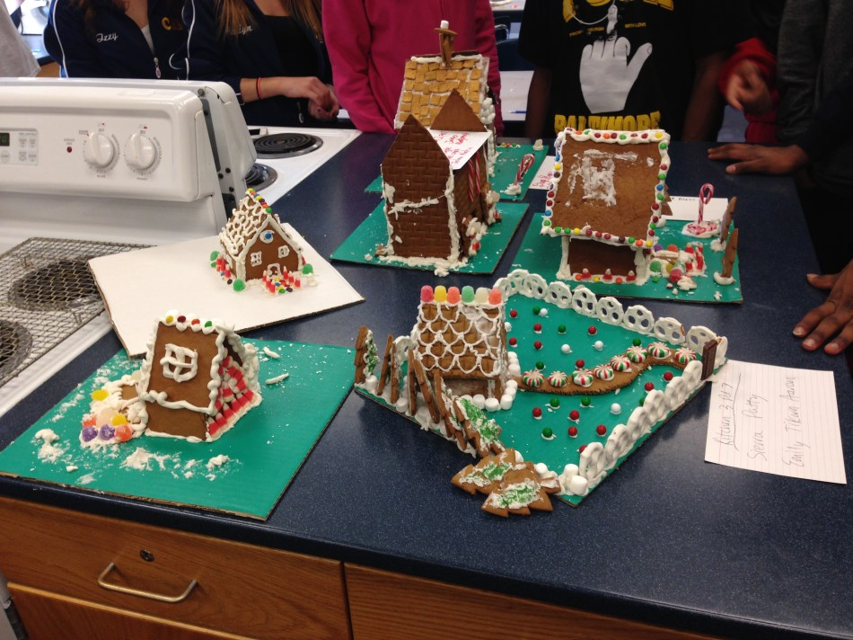 Culinary Class Gingerbread Houses