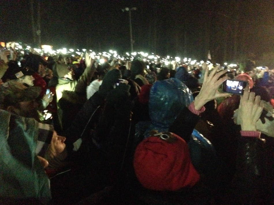 cell phones light Gobbler's Knob