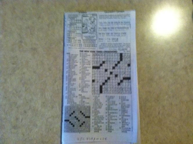 Saturday Puzzle