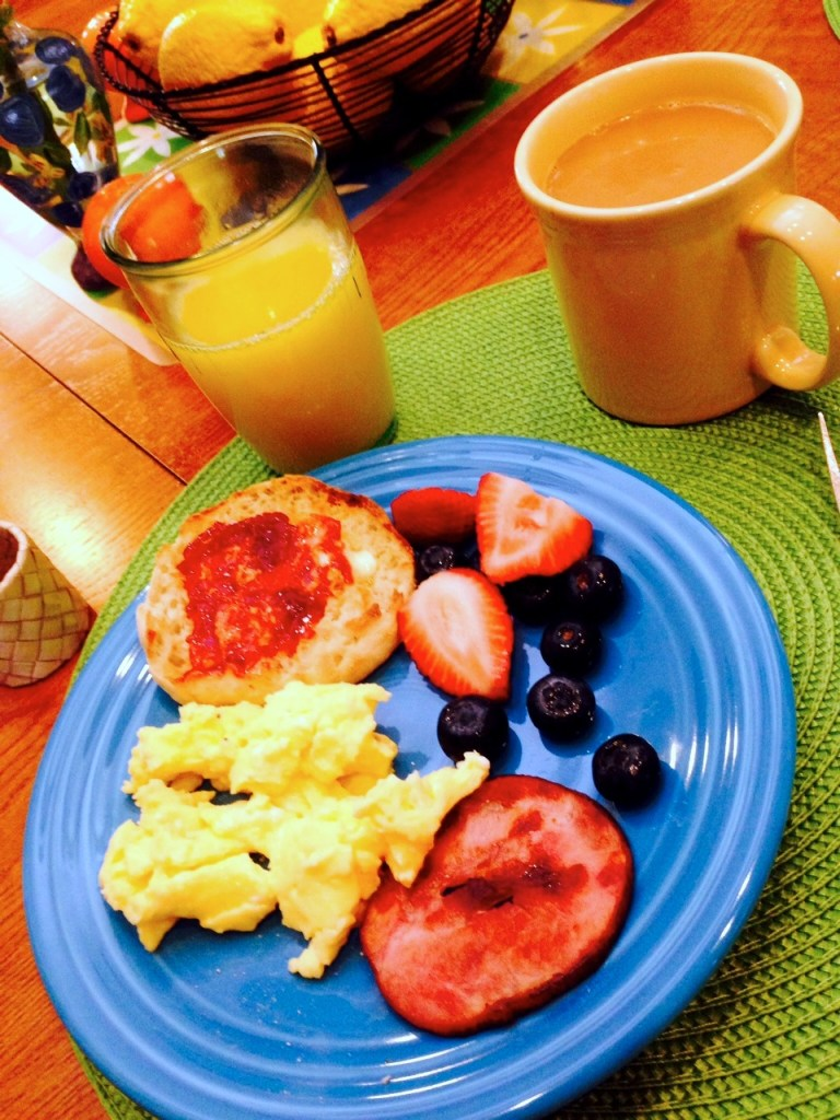 breakfast in Texas on Fiestaware