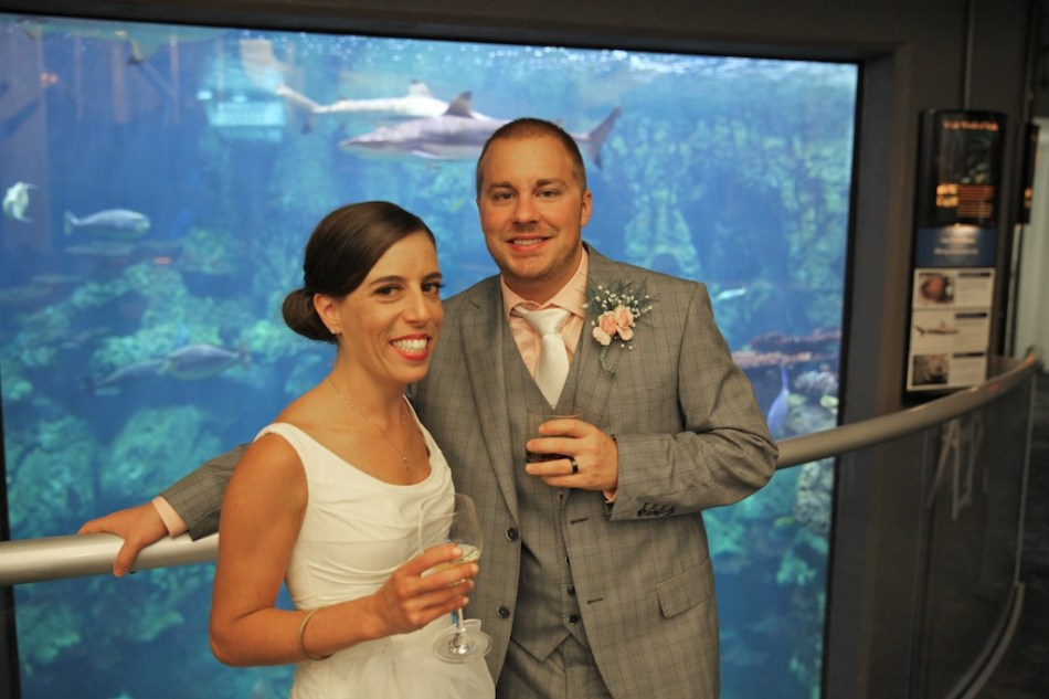 Celeste and Shawn at Fish Tank