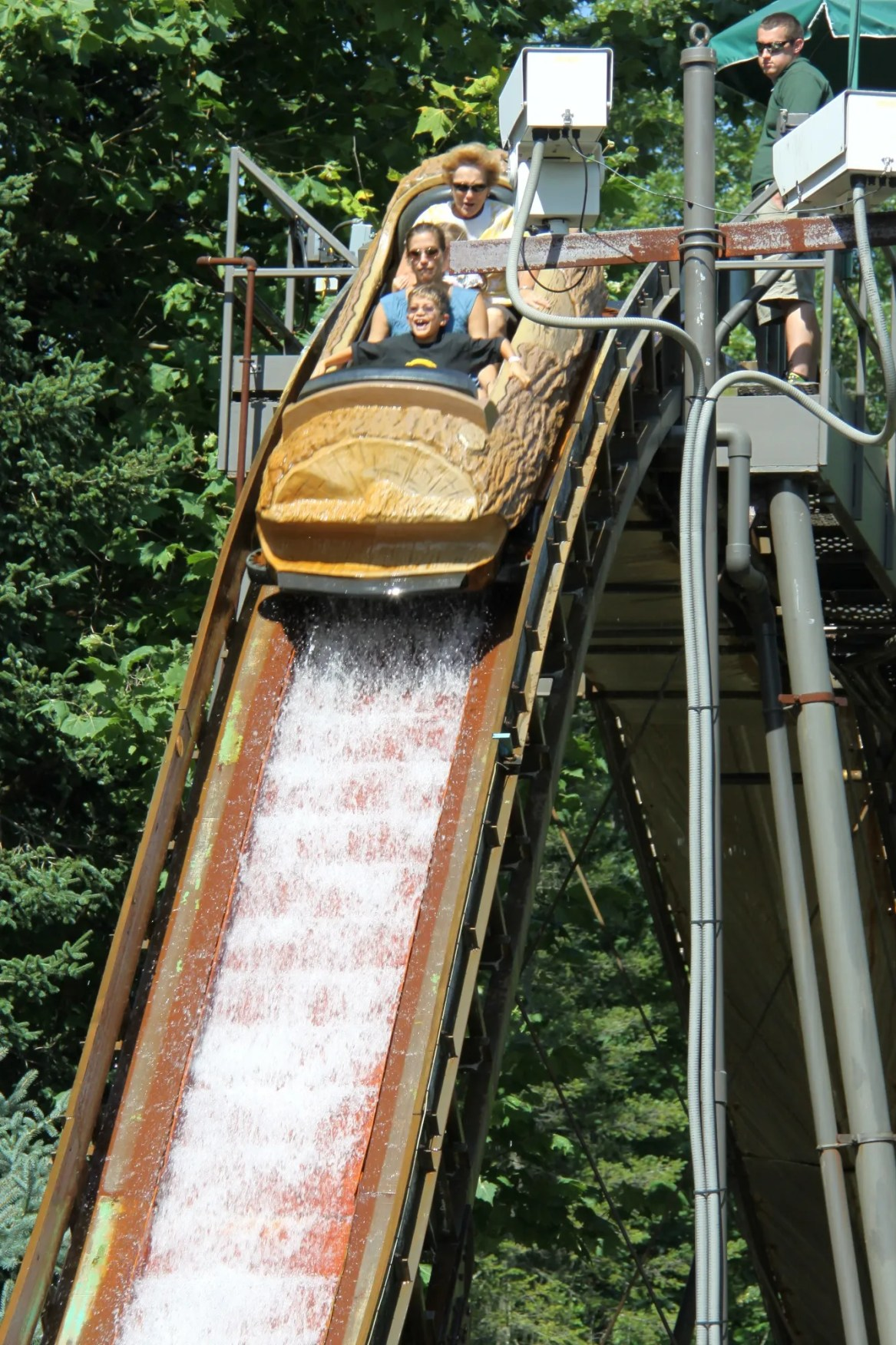 descent log flume