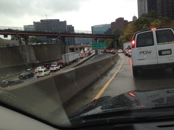 traffic converge