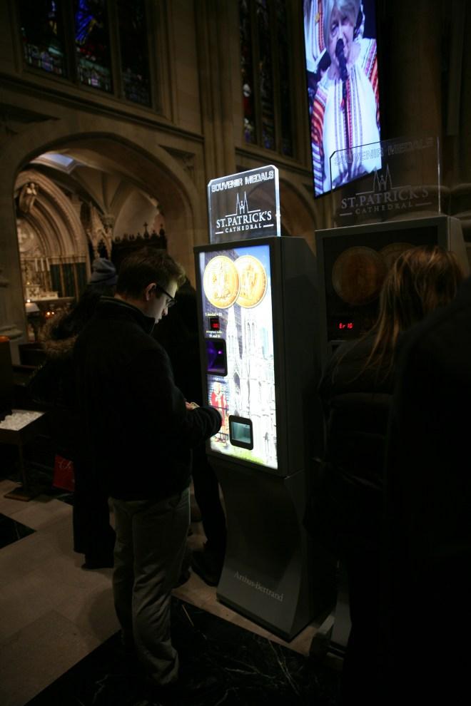 holy medal vending machine