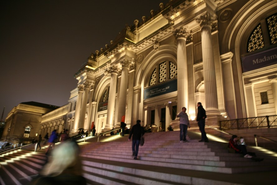 museum NYC exterior night
