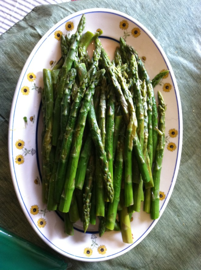 Fresh Asparagus at my sister's in NYC