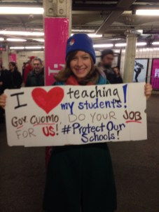 Special Ed Teacher on way to protest