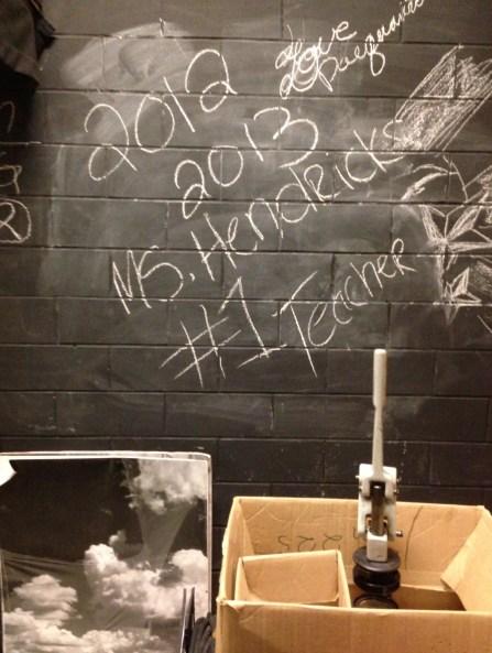Ms. Hendricks wall