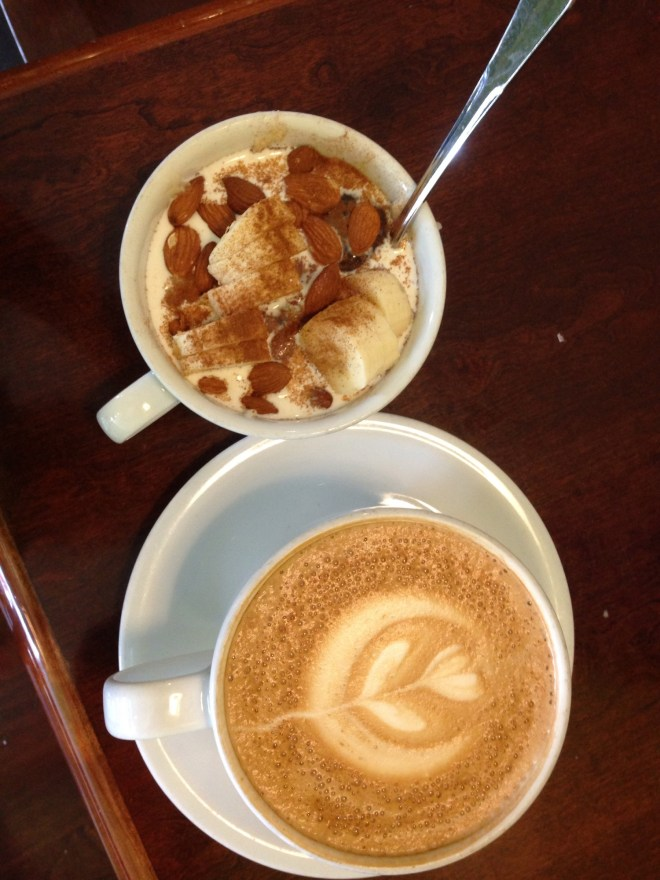 oatmeal and latte