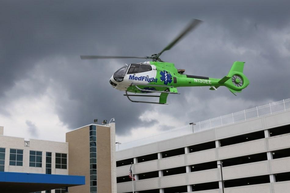 Med FLight Helicopter flying