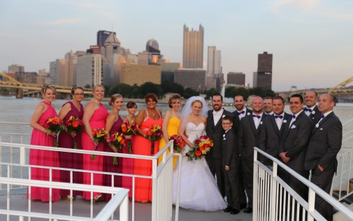 Colors of the Sunset Bridal Party