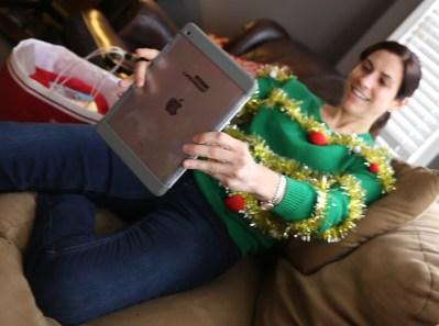 Christmas Sweater Selfie