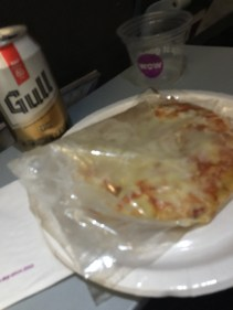 My seat mate's pizza