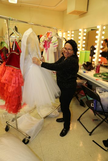 Norma Garrison in charge of Costumes
