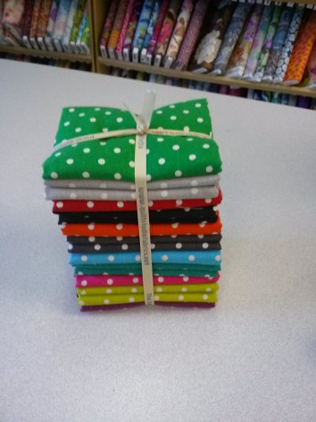 A pretty bundle of fabric to quilt