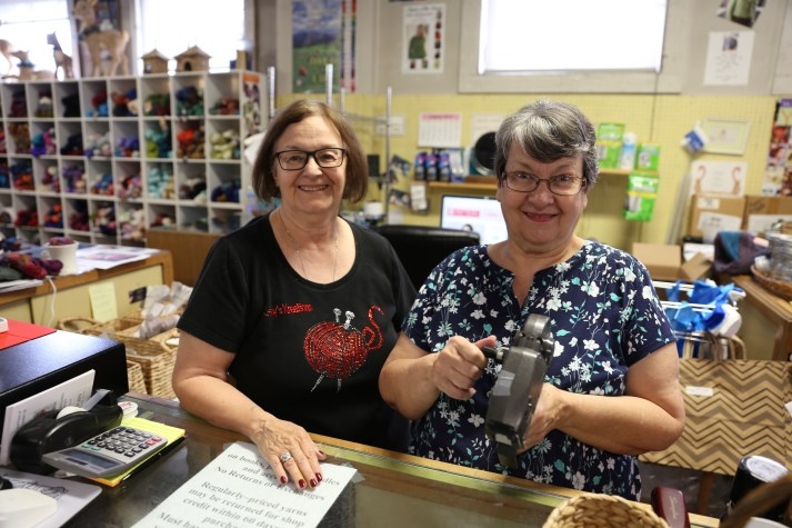 Owner Kathy Zimmerman and Karen on the right