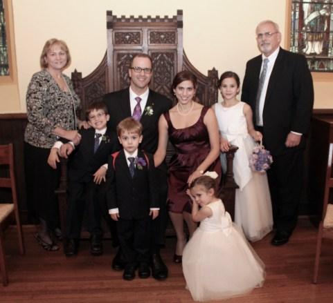 Family at Laura's wedding