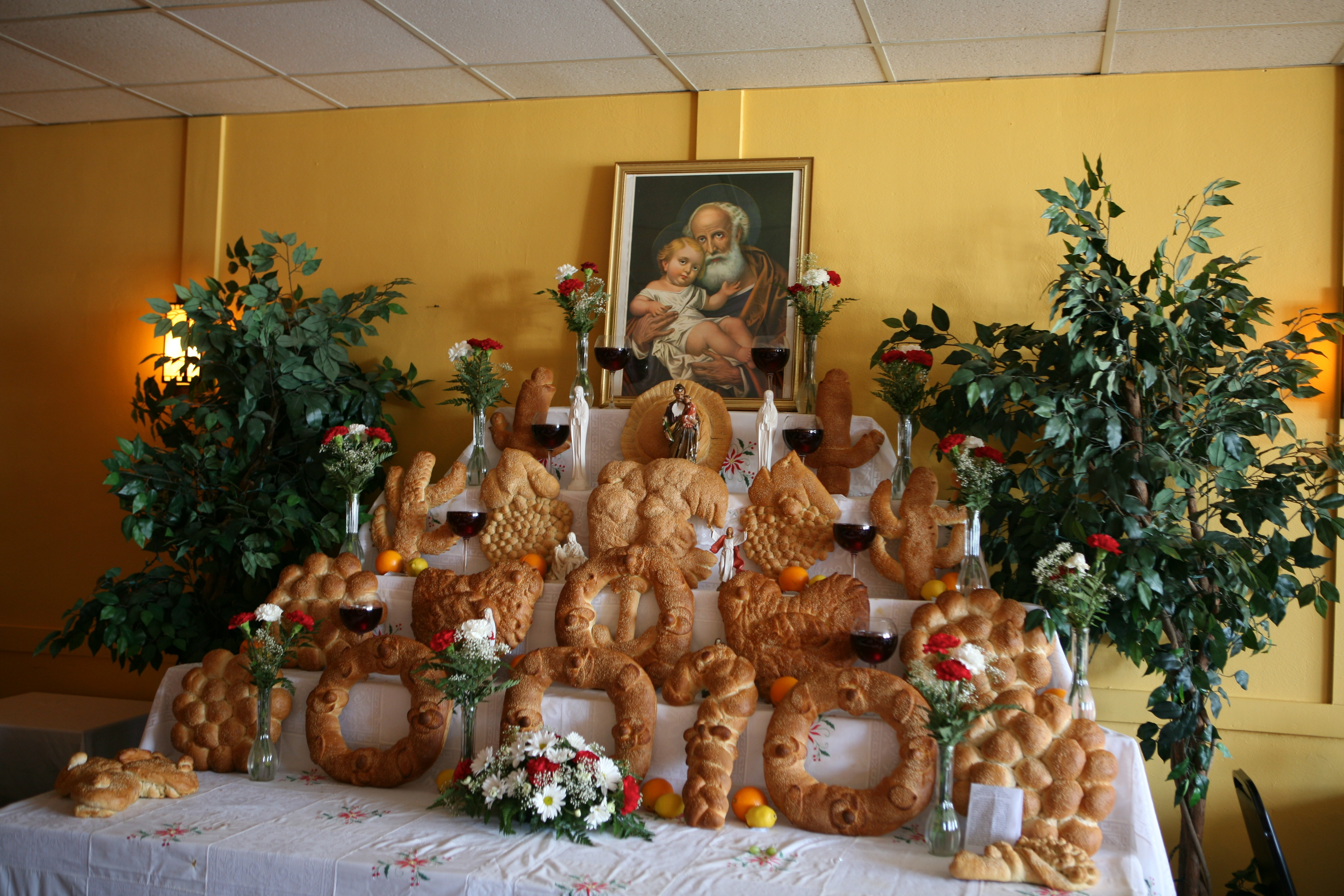 Carmela Baked All These Breads For St Joseph Feast Day