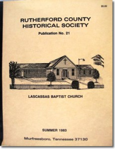 Publication 21: Jefferson Springs Resort, Lascassas Baptist Church, John Price Buchanan, Will Abstracts (Record Books 5 & 6 - 1819-1826), 1836 Tax Records of the 25th [Millersburg] District. (Please add shipping of $5.00)
