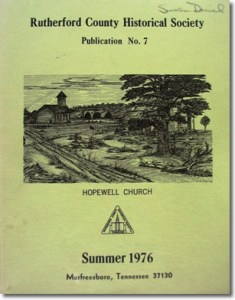 Publication 7: Hopewell Church, Petition by Cornelius Sanders for Revolutionary War Pension. (Please add shipping of $5.00)