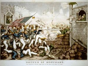 This lithograph from the Library of Congress shows U.S. soldiers forcing their way to the main plaza during the Battle of Monterrey in the Mexican-American War.  (Photo: Library of Congress)