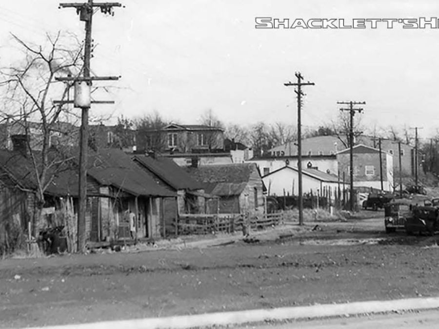 The Bottoms, once located south of the historic Public Square in Murfreesboro, was prone to flooding. During Urban Renewal, families were moved out to make way for what is now Broad Street.  Shacklett's Photography