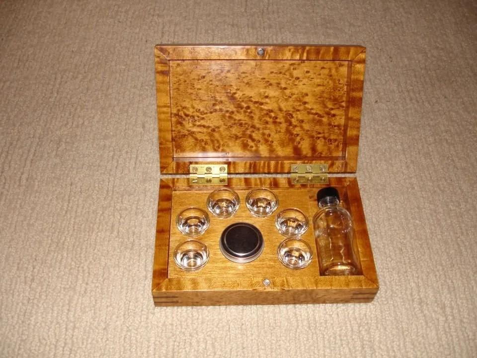 Portable communion sets, hand-made