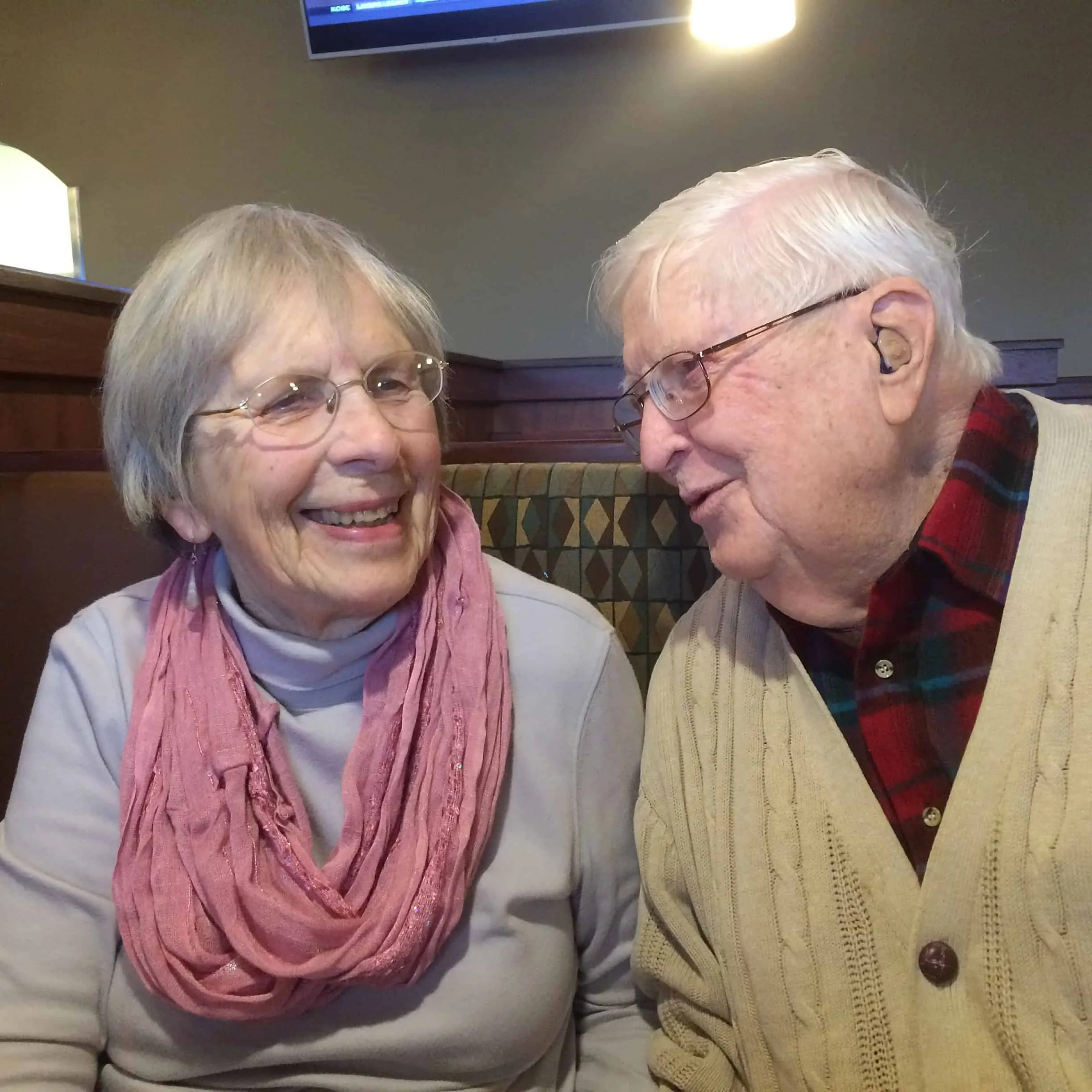 Breakfast with my parents the day before the cardiac catheterization.