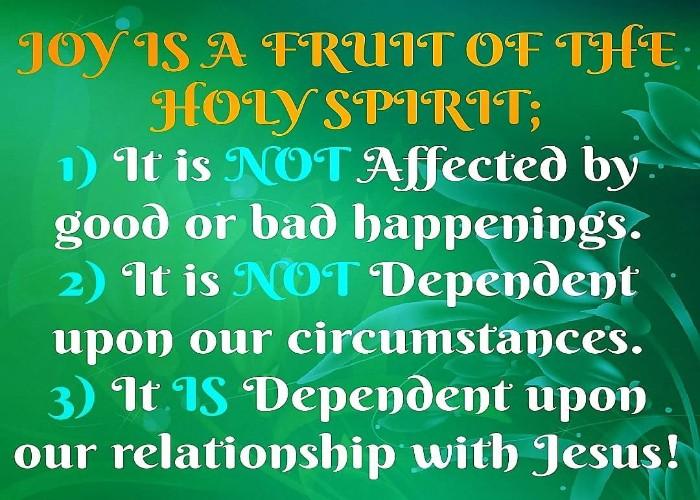 JOY: A FRUIT OF THE SPIRIT