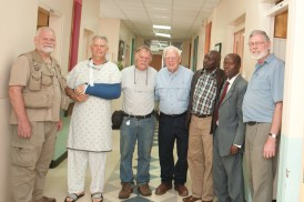 the DeJong men and Kenyan pastors