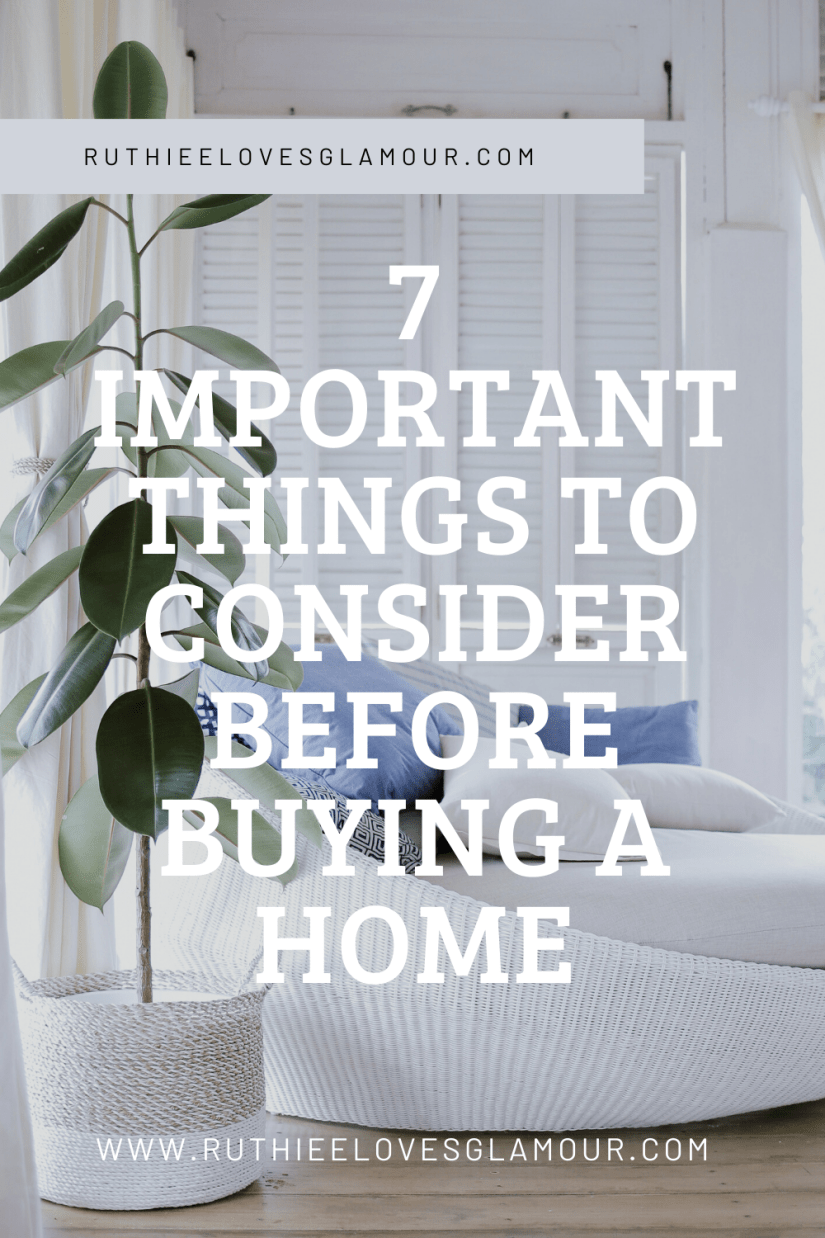 important things to consider before buying a home