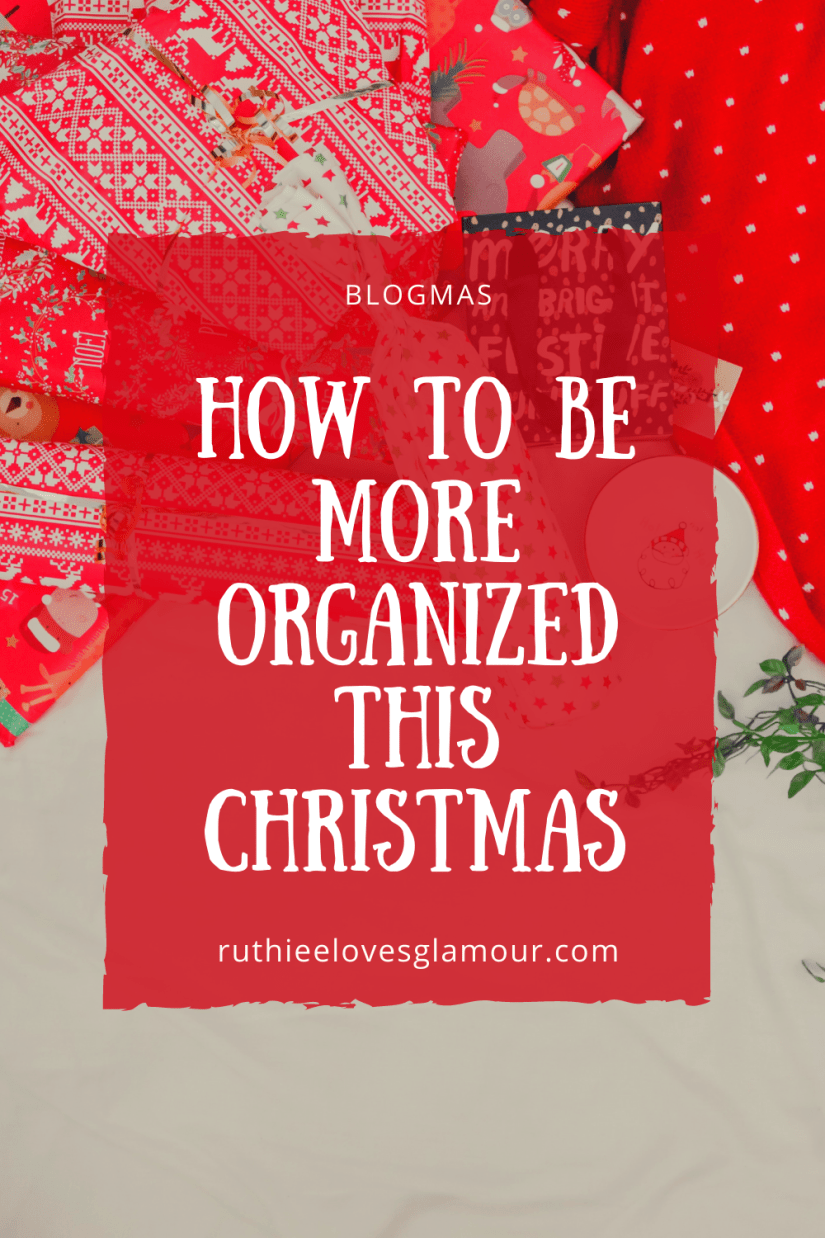 how to be more organized this Christmas