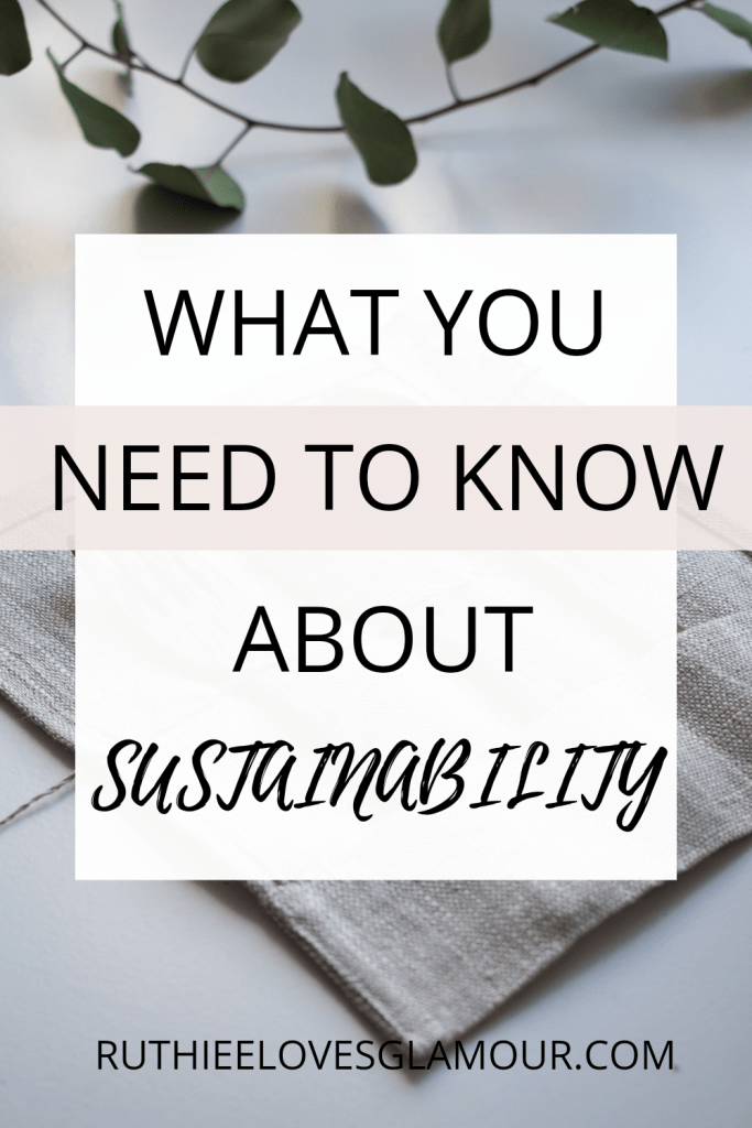What you need to know about sustainability