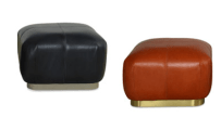 The little poufs we covered in faux creamy fur