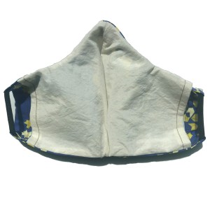 back view of Blue cotton mask
