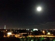 Trying to capture our rooftop view of DC