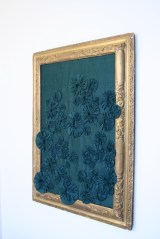 Betty Panel. 21x29 inches. Antique gold frame. Reclaimed silk. Was £800 now £300